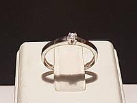 Золотое кольцо с фианитом. Артикул КВ681Би, фото 1