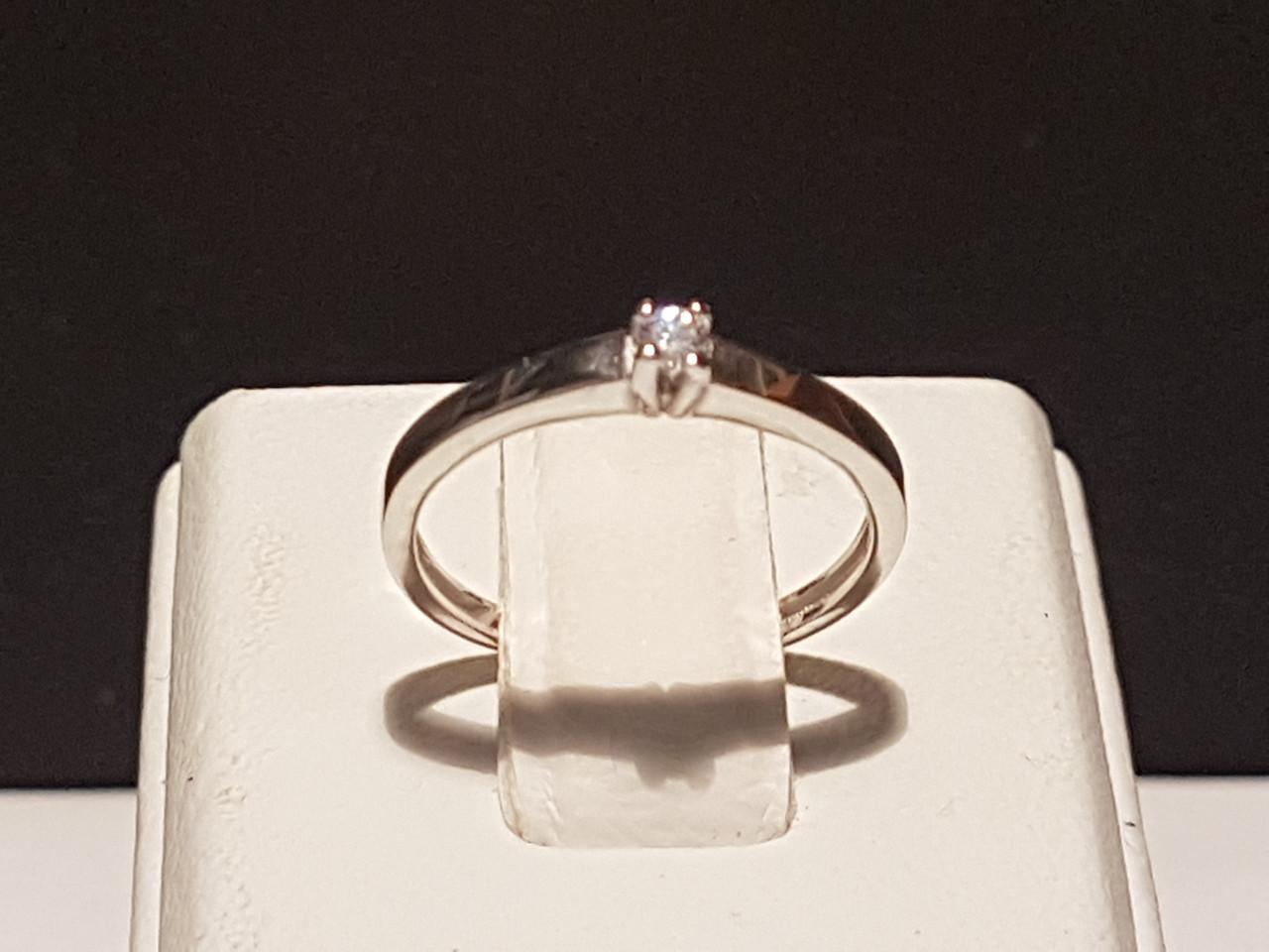 Золотое кольцо с фианитом. Артикул КВ681Би