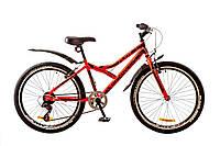 """Велосипед 24"""" DISCOVERY FLINT 2017 (красно-черный)"""