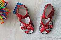 Летние текстильные босоножки на девочку Zetpol польская детская обувь р.19