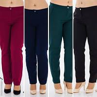 Модные женские брюки с кокеткой батал / Украина / креп