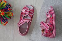 Розовые тапочки на девочку ViGGaMi польская детская обувь р.19,20,27