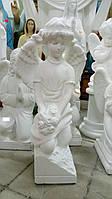 Статуя на могилу Ангел на коленях бетон 70 см