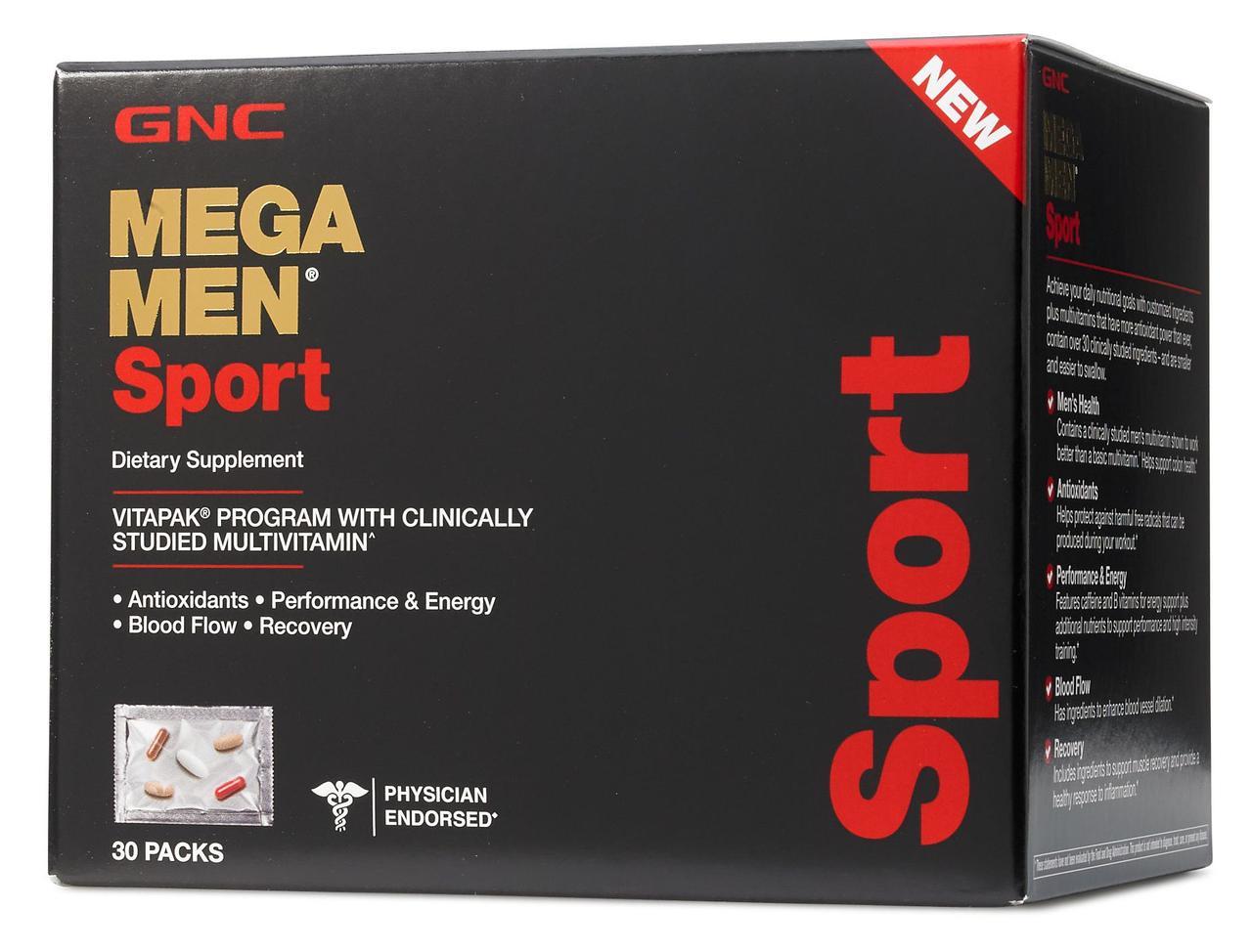 GNC Mega Men Sport 30 packets