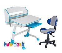 Детская растущая парта для дома FunDesk Volare II Blue + Детское кресло LST3