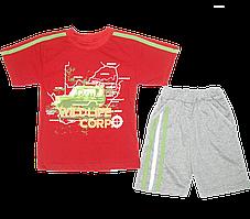 Детский летний костюмчик: футболка рукавом и шортики, тонкий хлопок; ТМ Финтекс, р. 86, 92, 98, 104, Украина
