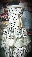 Бальное платье в горошек для девочки 7 - 12 лет