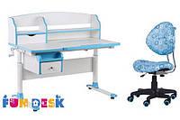 Детский стол-трансформер FunDesk Sognare Blue + детское кресло SST5 Blue