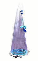 Кастинговая сеть «Американка» Ø4.5 м, из лески, ячейка 20 мм (с кольцом фрисби)