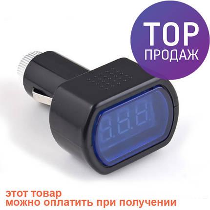 Вольтметр. Измеритель напряжения автомобильный LCD, фото 2