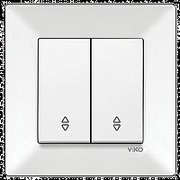 Выключатель проходной 2-х клавишный VIKO Meridian Белый (90970117)