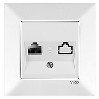 Розетка телефонная (RJ11) VIKO Meridian Белый (90970113)