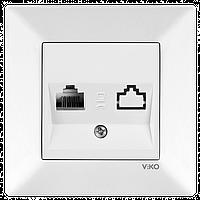 Розетка компьютерная одинарная VIKO Meridian Белый (90970132)