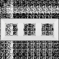 Тройная горизонтальная рамка VIKO Meridian Белый (90979023)