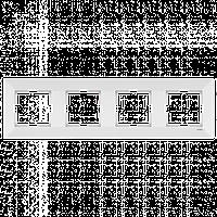 Четверная горизонтальная рамка VIKO Meridian Белый (90979024)