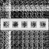 Пятерная горизонтальная рамка VIKO Meridian Белый (90979025)