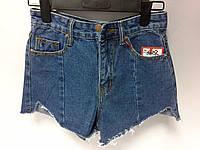 Короткие женские джинсовые шорты с высокой талией