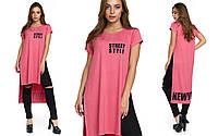 Розовая женская туника из вискозы 276