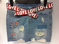 Модные Юбки джинсовые с вышивкой