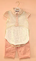 Нарядный костюм для девочки блуза и шорты
