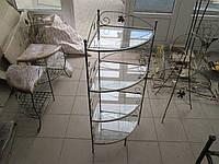 Кованый столик-башня угловой большой ., фото 1