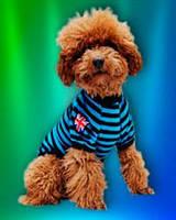Футболка для собак и кошек «Великобритания» (футболка «London») СИНЯЯ