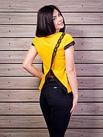 Роскошная женская футболка с очень красивой спинкой p.42-50 VM1940-1