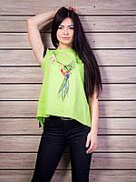Роскошная женская футболка с очень красивой спинкой p.42-50 VM1940-2