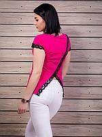 Роскошная женская футболка с очень красивой спинкой p.42-50 VM1940-3