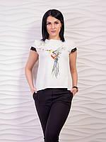 Роскошная женская футболка с очень красивой спинкой p.42-50 VM1940-5