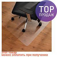 Коврик под  кресло 100х125 см, 0.8 мм / Коврик под стул прозрачный / Защитный коврик под офисное кресло