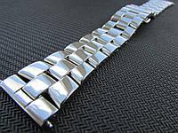 Браслет для часов из нержавеющей ювелирной стали 316L, литой, полированный. 22-й размер.