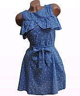 Платье женское модное с поясом лен арт.157, фото 1