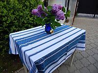 Скатерть синяя с вышивкой