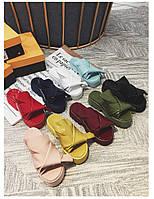 Женские шлепки сандали босоножки с бантом натуральная кожа танкетка бант № 21