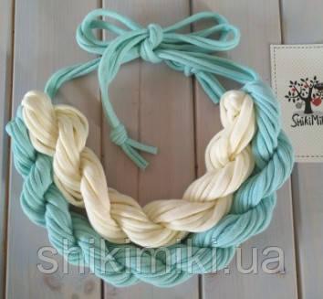 Колье женское вязаное из трикотажной пряжи Камила