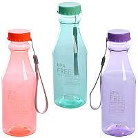 Бутылочка спортивная питьевая со шнурком MC05
