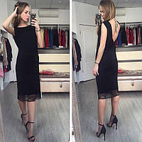 Платье комбинация в черном цвете