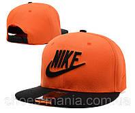 Кепка с прямым козырьком Nike Snapback black-orange