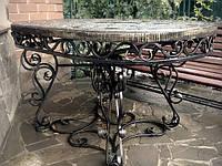 Кованый обеденный стол с гранитной столешницей в Харькове