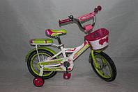 Велосипед двухколёсный 16 дюймов Azimut Rider CROSSER-6 салатовый