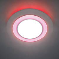 Светодиодный светильник встраиваемый(даунлайт) с красной подсветкой встраиваемый Feron AL2550 16W