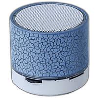 Bluetooh динамик Lesko BL S10 синий беспроводной портативный мини speaker подсветка LED USB flash карта