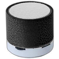Мини динамик Lesko BL S60U черный bluetooth портативный с подсветкой LED USB флеш карта speaker для музыки