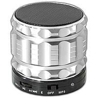Беспроводной портативный динамик Lesko BL S28 серебристый bluetooth с микрофоном плеер mp3 USB flash карта
