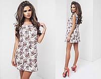 Короткое летнее платье в мелкий цветок