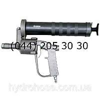 Шприц ИМПУЛЬСНЫЙ для смазки пневматический пистолетный со стальной 15см трубкой и муфтой, 413 Бар