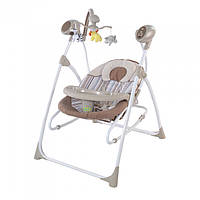 *Детское кресло - качалка (шезлонг, колыбель) с пультом Tilly Nanny Beige арт. 0005