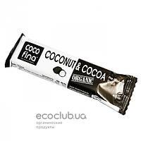 Батончик органический с кокосом и какао Coco Fina 40г