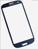 Стекло корпуса для Samsung i9500 Galaxy S4 dark blue original